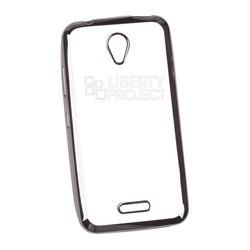 Чехол для Lenovo B (Liberti Project 0L-00030802) (прозрачный, черная рамка) - Чехол для телефонаЧехлы для мобильных телефонов<br>Чехол плотно облегает корпус телефона и гарантирует его надежную защиту от царапин и потертостей.