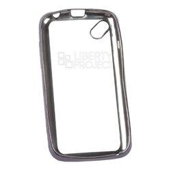 Чехол для Micromax D303 (Liberti Project 0L-00030934) (прозрачный, черная рамка) - Чехол для телефонаЧехлы для мобильных телефонов<br>Чехол плотно облегает корпус телефона и гарантирует его надежную защиту от царапин и потертостей.