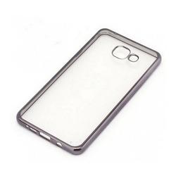 Силиконовый чехол-накладка для Samsung Galaxy S6 Edge Plus (iBox Blaze YT000010627) (черная рамка) - Чехол для телефонаЧехлы для мобильных телефонов<br>Чехол плотно облегает корпус и гарантирует надежную защиту от царапин и потертостей.
