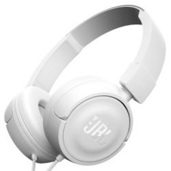 JBL T450 (белый) - НаушникиНаушники и Bluetooth-гарнитуры<br>Наушники с микрофоном, накладные, 32 Ом, разъем mini jack 3.5 mm, вес 320 г.