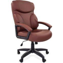 Кресло руководителя Chairman 435 LT (7007493) (коричневый) - Стул офисный, компьютерныйКомпьютерные кресла<br>Классическое кресло с обивкой из экокожи, ортопедические подушки на сидении и спинке, пластиковые подлокотники с мягкими накладками из экокожи, механизм качания с возможностью фиксации кресла в рабочем положении, крестовина пластиковая, максимальная нагрузка 120 кг.