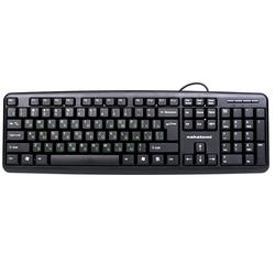 Nakatomi KN-02U Black USB (черный) - Мышь, клавиатура для компьютера и планшетаКлавиатуры, мыши, комплекты<br>Nakatomi KN-02U Black USB - проводная клавиатура, интерфейс USB, 104 клавиши, длина кабеля 1.5м.