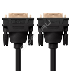 Кабель DVI-D 25M - DVI-D 25M 2.0 м (Greenconnect GCR-DM2DMC-2.0m) (черный) - HDMI кабель, переходник