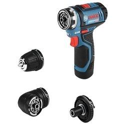Bosch GSR 12V-15 FC 2.0Ah x2 L-BOXX Set - ШуруповертДрели, шуруповерты, гайковерты<br>Bosch GSR 12V-15 FC 2.0Ah x2 L-BOXX Set - дрель-шуруповерт, патрон: под биты, работа от аккумулятора, количество скоростей: 2, реверс, вес 0.8 кг, кейс в комплекте