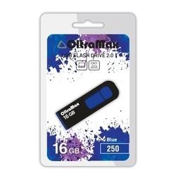 OltraMax 250 16GB (синий) - USB Flash driveUSB Flash drive<br>OltraMax 250 16GB - флеш-накопитель, объем 16Гб, USB 2.0, 15Мб/с, пластик, выдвижной разъем.