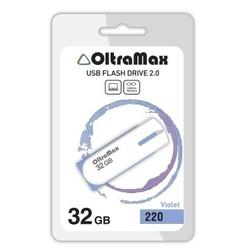 OltraMax 220 32GB (фиолетовый) - USB Flash driveUSB Flash drive<br>OltraMax 220 32GB - флеш-накопитель, объем 32Гб, USB 2.0, 15Мб/с, пластик.