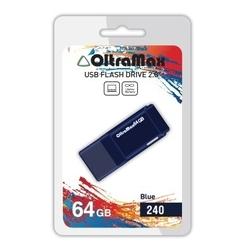 OltraMax 240 64GB (синий) - USB Flash driveUSB Flash drive<br>OltraMax 240 64GB - флеш-накопитель, объем 64Гб, USB 2.0, 15Мб/с, пластик.