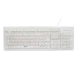 Gembird KB-8353U USB (бежевый) - Мышь, клавиатура для компьютера и планшетаКлавиатуры, мыши, комплекты<br>Gembird KB-8353U USB - проводная клавиатура, USB, 104 клавиши, длина кабеля 1.4 м.
