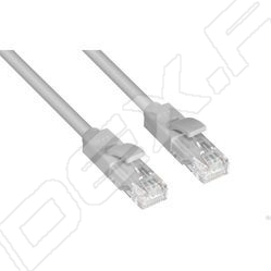 Патч-корд UTP кат. 6, RJ45 0.3м (Greenconnect GCR-LNC613-0.3m) (серый)