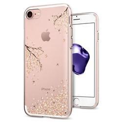 Чехол-накладка для Apple iPhone 7, 8 (Spigen Liquid Crystal 042CS21220) (рисунок цветы) - Чехол для телефонаЧехлы для мобильных телефонов<br>Обеспечит защиту телефона от царапин, потертостей и других нежелательных внешних воздействий.