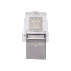 Kingston DataTraveler microDuo 3C 128GB (серебристый) - USB Flash driveUSB Flash drive<br>Интерфейс USB 3.1 Type-A/USB Type-C, объем 128Гб, материал корпуса: металл.