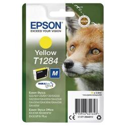 Картридж для Epson Stylus S22, SX125, SX425W, BX305 (C13T12844012) (желтый) - Картридж для принтера, МФУКартриджи<br>Совместимость: Epson Stylus S22, SX125, SX130, SX230, SX235W, SX420W, SX425W, SX430W, SX435W, SX440W, SX445W, BX305.