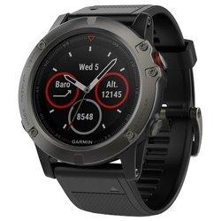 Garmin Fenix 5X Sapphire (silicone) - Умные часы, браслетУмные часы и браслеты<br>Garmin Fenix 5X Sapphire (silicone) - умные часы, влагозащищенные 1.20quot;, поддержка уведомлений, совместимость с Android, iOS, Windows Phone, Windows, OS X