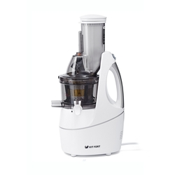 Kitfort КТ-1104-1 (белый) - Соковыжималка электрическаяСоковыжималки<br>Тип - шнековая, мощность - 240 Вт, количество скоростей - 1, прямая подача сока, «капля-stop», решетка для смузи, пюре, щетка для чистки, материал корпуса - пластик.