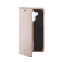 Чехол-книжка для Huawei Honor 5C (Celly Air Case AIR588GDCP) (золотистый) - Чехол для телефонаЧехлы для мобильных телефонов<br>Чехол плотно облегает корпус и гарантирует надежную защиту от царапин и потертостей.