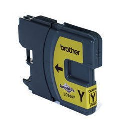 Картридж для Brother DCP-145C, 165, 185, 195, 365, 375, 385, MFC-250C, 290 BrLC980Y (желтый) - Картридж для принтера, МФУ