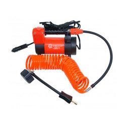 Агрессор AGR-35L - КомпрессорКомпрессоры<br>Компрессор автомобильный  металлический, 12V, 180W, производительность 35 л./мин., сумка, LED фонарь. Диапазон измерений: 0-150 PSI/0-10 BAR, еденица измерения: Aтм/Psi, конструкция: однопоршневая, питание: от прикуривателя.