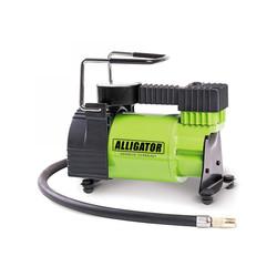 Alligator AL-350 - КомпрессорКомпрессоры<br>Компрессор автомобильный металлический, 12V, 120W, производ-сть 30 л./мин., переходники для накач., сумка. Диапазон измерений: 0-150 PSI/0-10 BAR, еденица измерения: Aтм/Psi, конструкция: однопоршневая, питание: от прикуривателя.