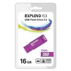 EXPLOYD 560 16GB (фиолетовый) - USB Flash driveUSB Flash drive<br>16Гб, USB 2.0, 15Мб/с.