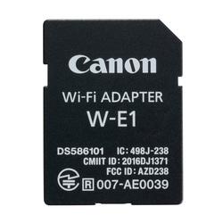 Wi-Fi адаптер Canon W-E1 - АксессуарАксессуары для фотоаппаратов<br>Позволяет осуществлять удаленную съемку, удаленный режим Live View, беспроводное управление камерой. Совместимость: EOS 7D Mark II, EOS 5DS и EOS 5DS R с обновленным встроенным ПО. Необходимо программное обеспечение EOS Utility для Apple MacOS или Microsoft Windows или приложение Camera Connect для Apple iOS или Android.