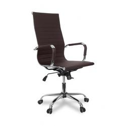 College XH-632ALX (коричневый) - Стул офисный, компьютерныйКомпьютерные кресла<br>College XH-632ALX - - кресло офисное, экокожа, максимальный вес 120 кг, хромированная крестовина, подлокотники хромированные с накладками, высота спинки 64см.