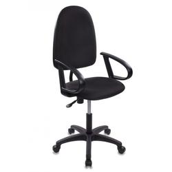 Кресло офисное Бюрократ CH-1300/BLACK (черный)  - Стул офисный, компьютерныйКомпьютерные кресла<br>Бюрократ CH-1300 - кресло офисное, крестовина и подлокотники пластиковые, спинка отдельная от сиденья, материал обивки ткань, газлифт, механизм качания, регулировка под вес, максимальный вес 120кг.