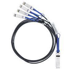 Кабель QSFP+ -4xSFP+ 1м (Mellanox MC2609130-001) - КабельСетевые аксессуары<br>Ethernet-кабель, разъемы: QSFP+ to 4xSFP+, пассивный, длина 1м.