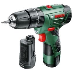 Bosch EasyImpact 12 2.5Ah x2 Case - ШуруповертДрели, шуруповерты, гайковерты<br>Дрель-шуруповерт, патрон: быстрозажимной, работа от аккумулятора, количество скоростей: 2, патрон 10 мм, реверс, фиксация шпинделя, вес 1 кг, кейс в комплекте