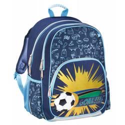Hama SOCCER (синий) - Ранец, рюкзак, сумка, папкаРюкзаки и ранцы для школы<br>Рюкзак Hama SOCCER, материал-полиэстер, объем-14л, внешние размер 28x40x18см, светоотражающие материалы, ручка для переноски.