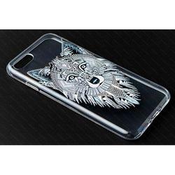 Чехол-накладка для Apple iPhone 7, 8 (iBox Fashion YT000009750) (дизайн Волк) - Чехол для телефонаЧехлы для мобильных телефонов<br>Чехол плотно облегает корпус и гарантирует надежную защиту от царапин и потертостей.
