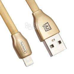Дата кабель Lightning - USB для Apple iPhone 5, 5S, SE, 5C, 6, 6 Plus, 6S, 6S Plus, 7, 7 Plus, 8, 8 Plus, X, 4, Air, Air 2, mini, mini 2, mini 3, mini 4, ipad 2017, pro 9.7, pro 12.9, pro 10.5 (Remax RC-035i) (золотистый) - КабелиUSB-, HDMI-кабели, переходники<br>Предназначен для передачи данных между компьютером и мобильными устройствами с разъёмом 8 pin.