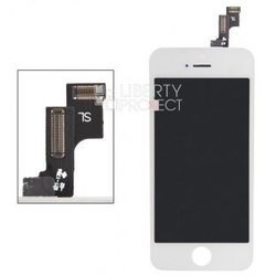 Дисплей для Apple iPhone 5S, SE с тачскрином (Liberti Project 0L-0L-00032673) (белый) (1 категория Q) - Дисплей, экран для мобильного телефона