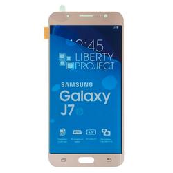 Дисплей для Samsung Galaxy J7 (2016) SM-J710F с тачскрином (GH97-18855A) (Liberti Project 0L-00032770) (золотистый) - Дисплей, экран для мобильного телефонаДисплеи и экраны для мобильных телефонов<br>Полный заводской комплект замены дисплея для Samsung Galaxy J7 (2016) SM-J710F. Стекло, тачскрин, экран для Samsung Galaxy J7 (2016) SM-J710F в сборе. Если вы разбили стекло - вам нужен именно этот комплект, который поставляется со всеми шлейфами, разъемами, чипами в сборе.