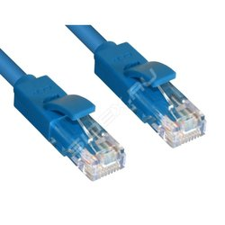 Патч-корд UTP кат. 6, RJ45 0.3м (Greenconnect GCR-LNC601-0.3m) (синий)
