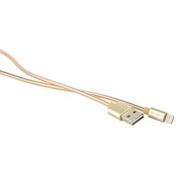 Кабель USB - Apple 8-pin Lightning (Red Line S7 YT000010469) (металлическая обмотка, золотистый) - КабелиUSB-, HDMI-кабели, переходники<br>Высокоскоростной кабель позволяет подключить ваш iPhone, iPad или iPod с разъёмом Lightning к порту USB на компьютере для синхронизации и зарядки.