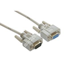 Кабель-удлинитель RS-232 - RS-232 1.0м (Greenconnect GCR-DB9CM2F-1.0m) (серый) - Кабель, переходникКабели, шлейфы<br>Модемный кабель COM RS-232 для систем АСУ ТП, ресиверов, разъемы: 9M - 9F (папа-мама), длина кабеля 1.0 м.