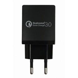 Универсальное сетевое зарядное устройство, адаптер 1хUSB, 1А (Palmexx PX/PA-USB-QC3.0 CURVE) - Сетевой адаптер 220v - USB, ПрикуривательСетевые адаптеры 220v - USB, Прикуриватель<br>Универсальное сетевое зарядное устройство предназначено для зарядки портативных устройств от сети переменного тока 220В. Обладает функцией быстрой зарядки, имеет 1 USB порт.