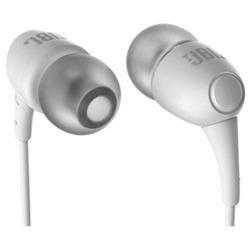 JBL T100 (T100WHTNP) (белый) - НаушникиНаушники и Bluetooth-гарнитуры<br>Наушники с микрофоном, вставные (quot;затычкиquot;), импеданс 16 Ом, чувствительность 100 дБ.