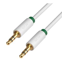 Кабель Jack 3.5 mm - Jack 3.5 mm 0.5м (Greenconnect GCR-AVC1662-0.5m) (белый) - Кабель, разъем для акустической системыКабели и разъемы для акустических систем<br>Кабель аудио, 0.5 m, ультрагибкий, 28 AWG, AM/AM, Premium, экран, стерео.