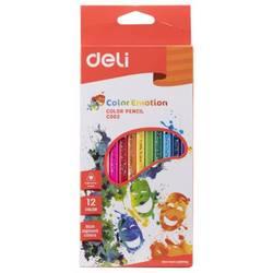 Карандаши цветные Deli Color Emotion EC00200 трехгранные липа 12цв. , европод. - Цветной карандашЦветные карандаши<br>Тип Карандаши цветные, Профиль карандаша трехгранные, Материал корпуса липа, Количество цветов 12, Тип упаковки коробка европодвес, Вес (кг) 0.097, Объем (м3) 0.00027