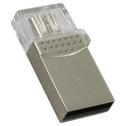 Qumo Keeper 32GB - USB Flash driveUSB Flash drive<br>Qumo Keeper 32GB - 32 Гб, USB 2.0/microUSB, материал корпуса: металл