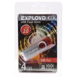 EXPLOYD 530 4GB (красный) - USB Flash driveUSB Flash drive<br>Флэш-накопитель 4 Гб, интерфейс USB 2.0.