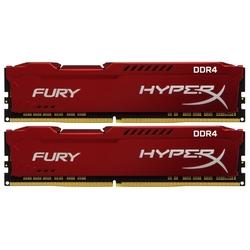 Kingston HX424C15FR2K2/16 (красный) - Память для компьютераМодули памяти<br>2 модуля памяти DDR4, объем модуля 8 Гб, форм-фактор DIMM, 288-контактный, частота 2400 МГц, радиатор, CAS Latency (CL): 15