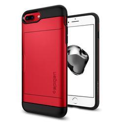 Чехол-накладка для Apple iPhone 7 Plus, 8 Plus (Spigen Slim Armor CS 043CS21730) (красный) - Чехол для телефонаЧехлы для мобильных телефонов<br>Удобный и компактный чехол, обеспечит защиту от негативных внешних воздействий.