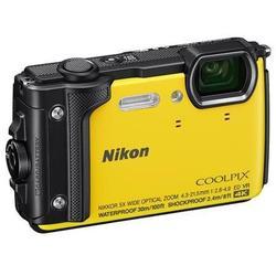 Nikon Coolpix W300 (желтый) - Фотоаппарат цифровойЦифровые фотоаппараты<br>Компактная фотокамера, матрица 16.76 МП (1/2.3quot;), съемка видео 4K, оптический зум 5x, экран 3quot;, Wi-Fi, Bluetooth, GPS, влагозащищенный корпус, вес с элементами питания 231 г, режим макросъемки.
