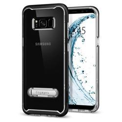 Чехол-накладка для Samsung Galaxy S8 (Spigen Crystal Hybrid 565CS20835) (черный) - Чехол для телефонаЧехлы для мобильных телефонов<br>Удобный и компактный чехол, обеспечит защиту от негативных внешних воздействий.