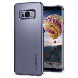 Чехол-накладка для Samsung Galaxy S8 Plus (Spigen Thin Fit 571CS21675) (серая орхидея) - Чехол для телефонаЧехлы для мобильных телефонов<br>Защитит смартфон от грязи, пыли, брызг и других внешних воздействий.