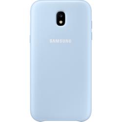 Чехол-накладка для Samsung Galaxy J3 2017 (Dual Layer EF-PJ330CLEGRU) (голубой) - Чехол для телефонаЧехлы для мобильных телефонов<br>Чехол плотно облегает корпус и гарантирует надежную защиту от царапин и потертостей.