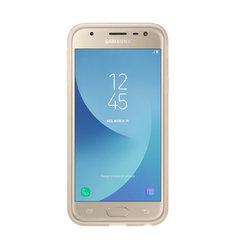 Чехол-накладка для Samsung Galaxy J3 2017 (Jelly EF-AJ330TFEGRU) (золотистый) - Чехол для телефонаЧехлы для мобильных телефонов<br>Чехол плотно облегает корпус и гарантирует надежную защиту от царапин и потертостей.