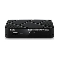 TV-тюнер BBK SMP023HDT2 (черный) - ТВ тюнерTV-тюнеры<br>Предназначен для приема каналов цифрового эфирного телевидения стандартов: DVB-T, DVB-T2 MPEG-2/MPEG-4 и радио.